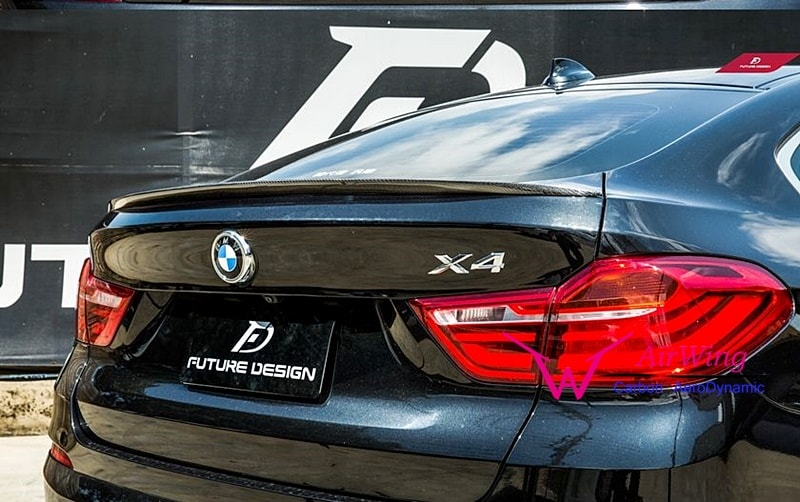 BMW F26 X4 - OEM style carbon trunk spoiler 03