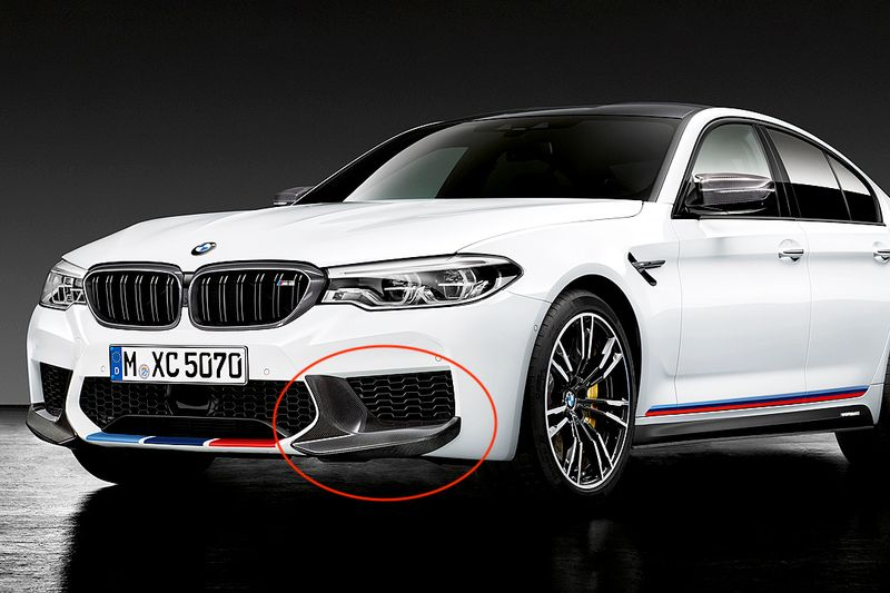 F90 M5- Performance carbon front splitter 01