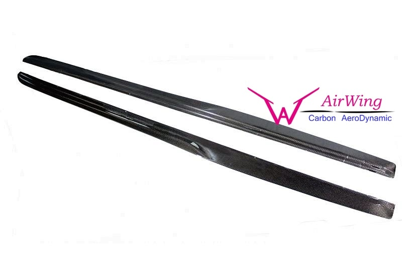W205 C63 - PSM style Carbon Side Skirt Splitter 03